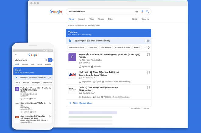 google tool vieclam