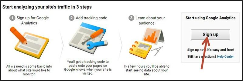 cách gắn google analytics vào website