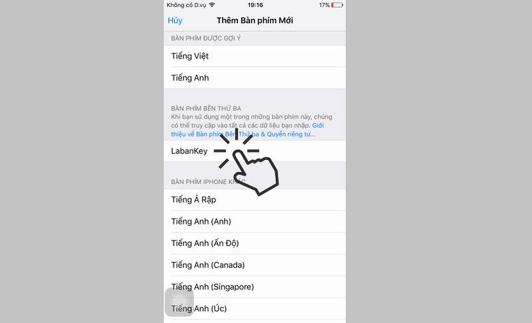 hướng dẫn gõ tiếng việt kiểu VNI trên iphone