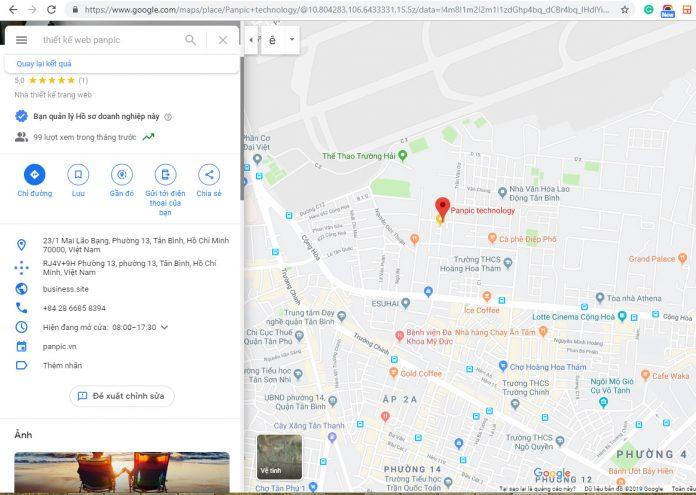 đưa địa chỉ kinh doanh lên google-map