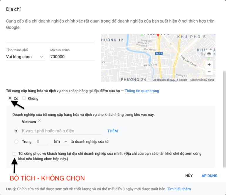 thêm địa chỉ lên google maps