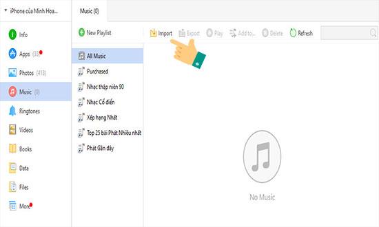 chép nhạc từ máy tính sang iphone