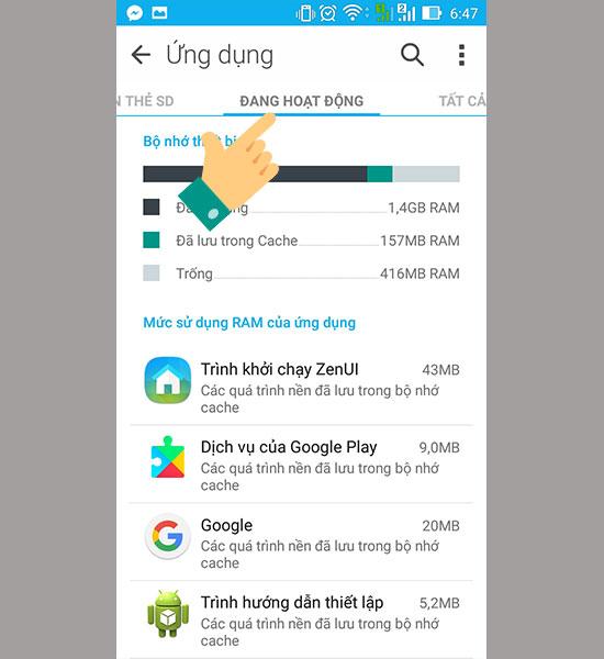 tắt ứng dụng chạy ngầm tăng tốc điện thoại android