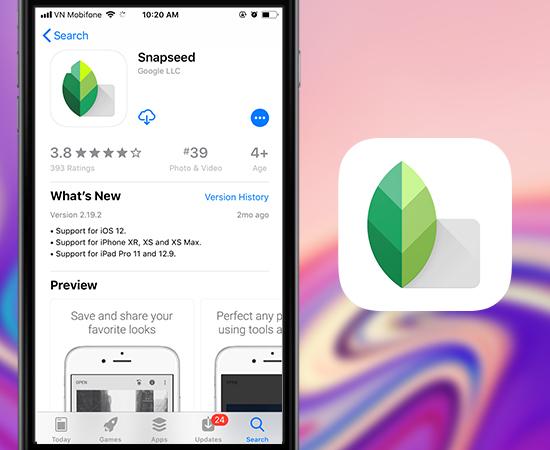 top 3 ứng dụng sửa ảnh tốt nhấtcho iOS