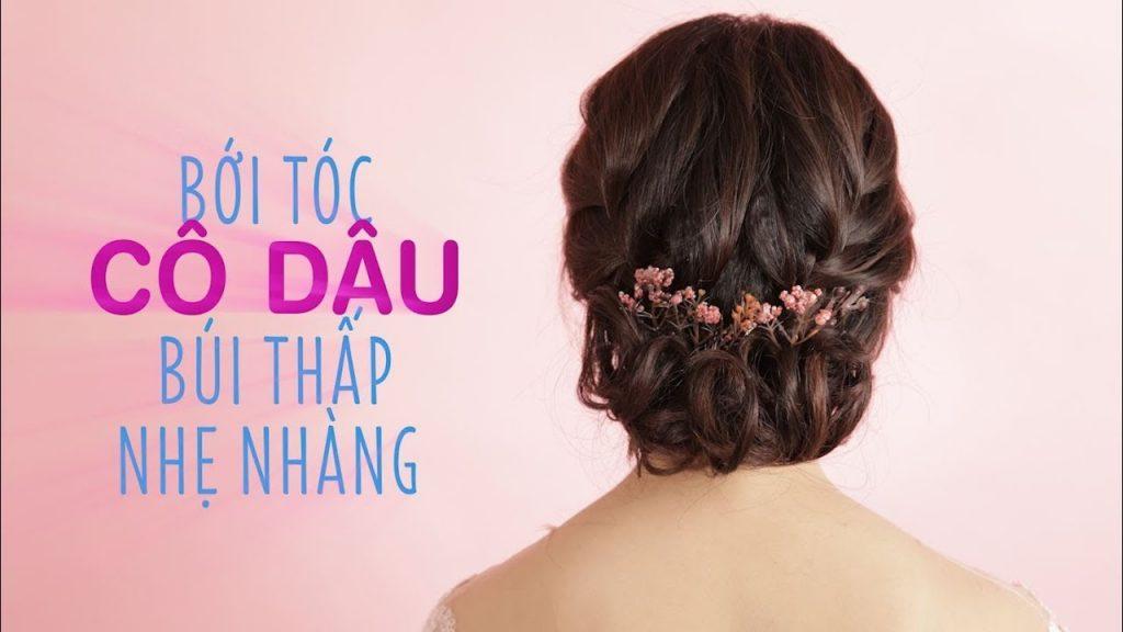 hướng dẫn bới tóc cô dâu thấp nhẹ nhàng lãng mạn