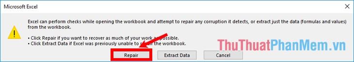 Hướng dẫn cách khắc phục lỗi không mở được file Excel