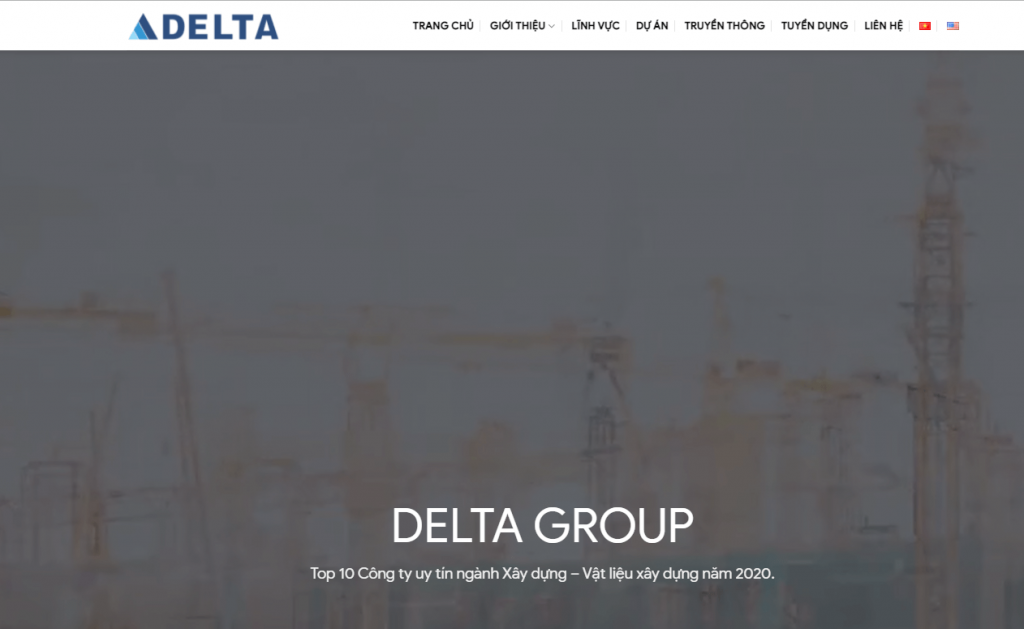 Top website công ty xây dựng Delta