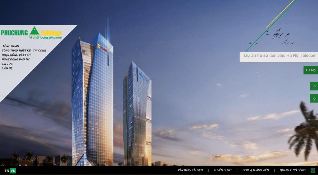 top website công ty xây dựng Phục Hưng