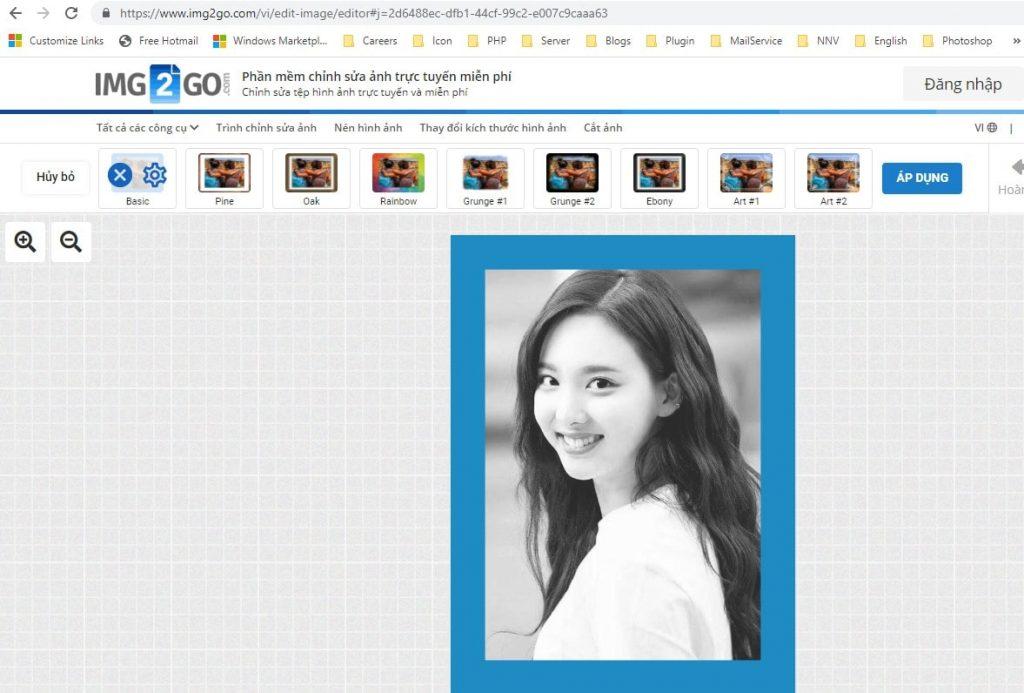 Phần mềm chỉnh sửa ảnh online IMG2GO