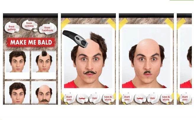 Ứng dụng cạo trọc đầu make me bald prank