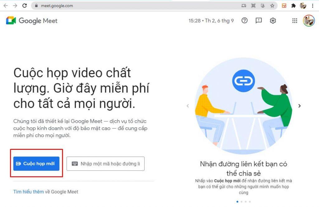 Hướng dẫn sử dụng google meet dậy học online trực tuyến