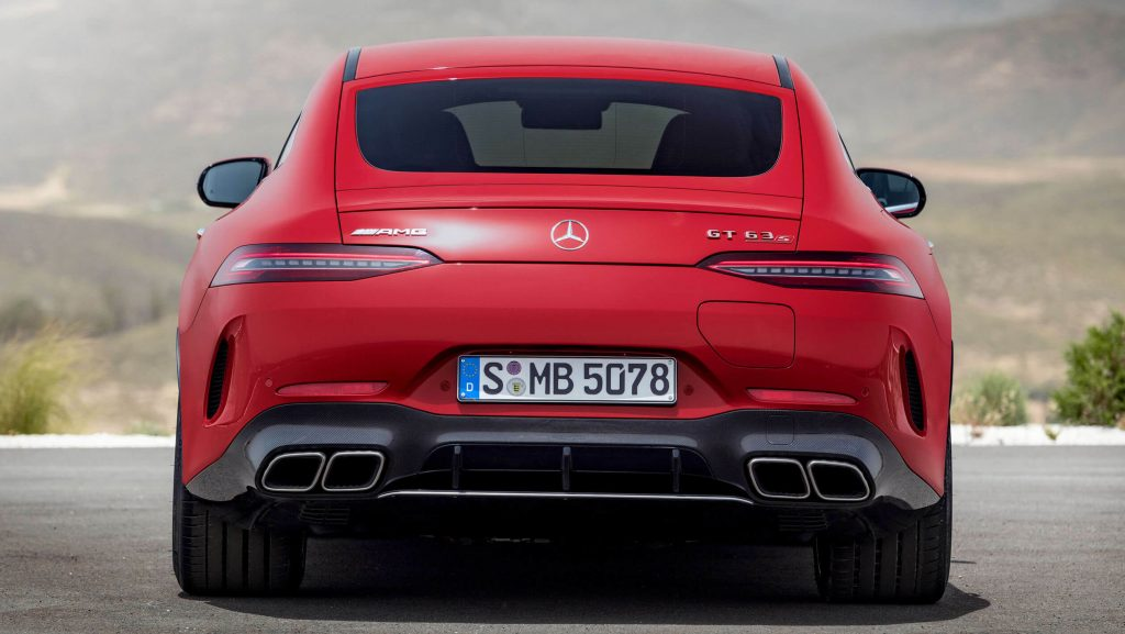 xe Mercedes AMG GT 63 S E Performance phía sau