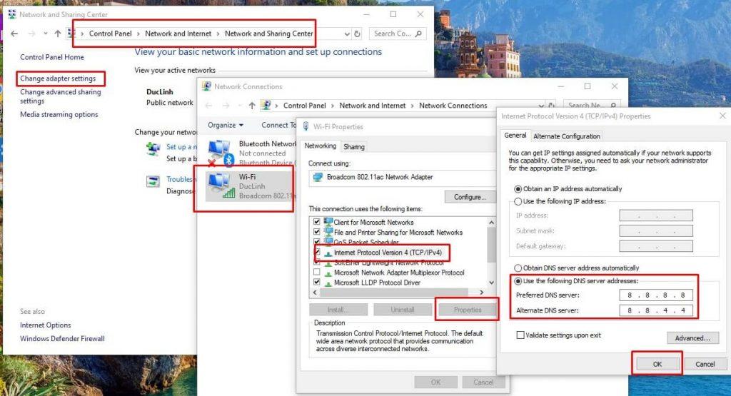 Tăng tốc mạng Windows 10 với Open DNS