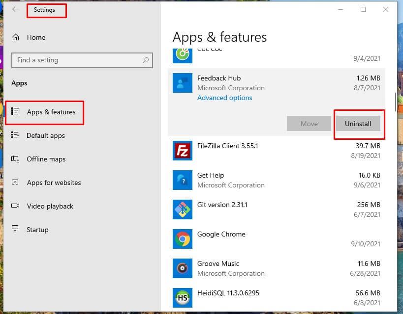 Tăng tốc Windows 10 gỡ bỏ các ứng dụng không sử dụng