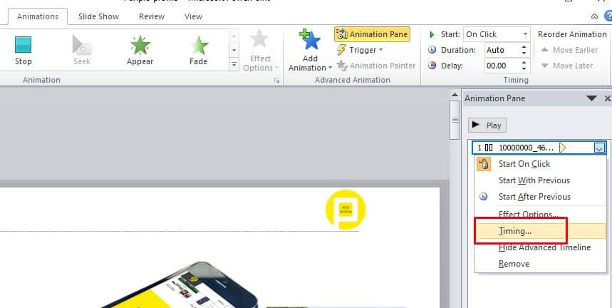Chỉnh hiệu ứng file âm thanh vidoe Slide PowerPoint