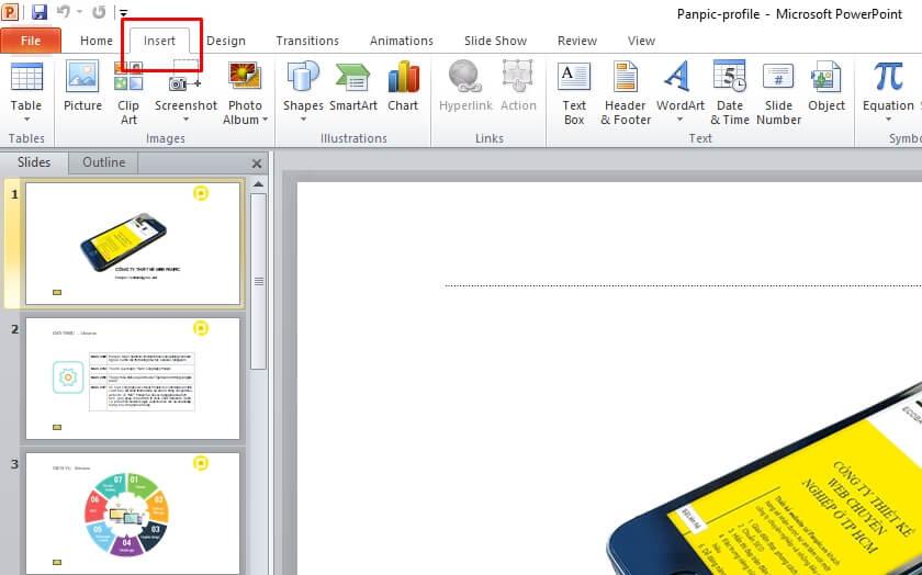 Làm sao chèn nhạc vào powerpoint slide